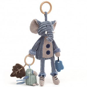 """Jouet bébé de poussette et siège-auto """"Cordy Roy Elephant"""" Jellycat"""