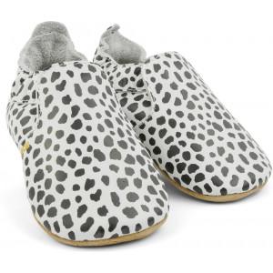 """Chaussons bébé souples en cuir Soft Sole """"Dalmatiens"""" Bobux"""