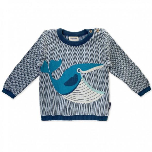 """Pull Tricot en laine et coton bio """"Baleine"""""""