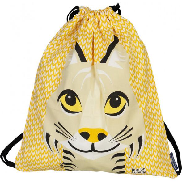 Sac d'activités enfant en coton bio Mibo Lynx
