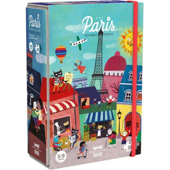 "Puzzle ""Night & Day in Paris"" (3-8 ans)"