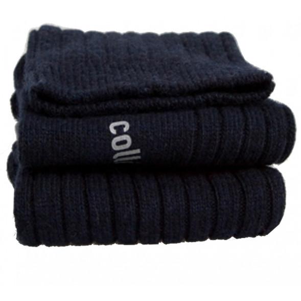 """Chaussettes courtes enfant en laine et cachemire Chamois """"Bleu Douce Nuit"""""""