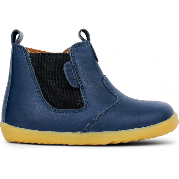 "Bottines en cuir Quickdry Step Up ""Jodhpur"" Bleu Navy"