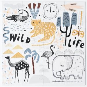 "Puzzle enfant géant ""Floor Wild Life"" (3 ans -6 ans) Wee Gallery"