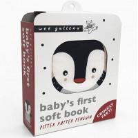 """Livre d'éveil en coton bio """"Pitter Patter Penguin"""""""