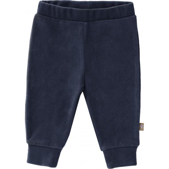 """Pantalon bébé en coton bio Velours """"Bleu Indigo"""""""
