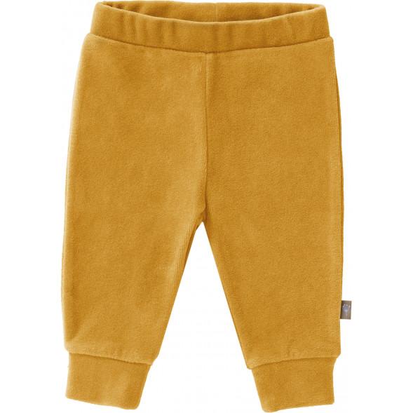 """Pantalon bébé en coton bio Velours """"Jaune Mimosa"""""""