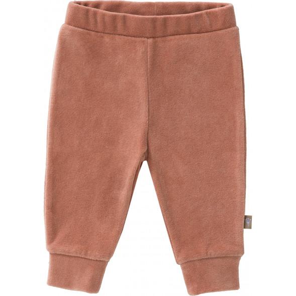 """Pantalon bébé en coton bio Velours """"Rose Pâle"""""""