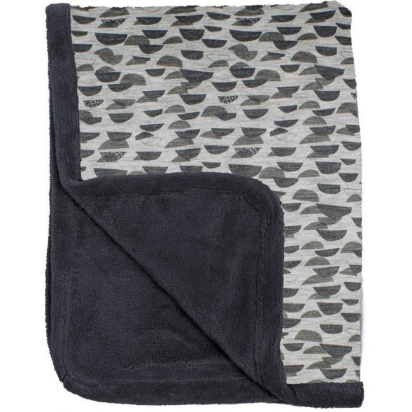 """Couverture de lit bébé hiver en coton et polaire (100x150) """"Frost Grey"""""""