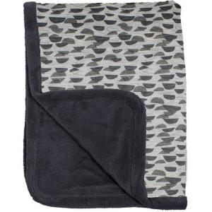 """Couverture de lit bébé enfant hiver en coton et polaire (100x150) """"Frost Grey"""" Snooze"""