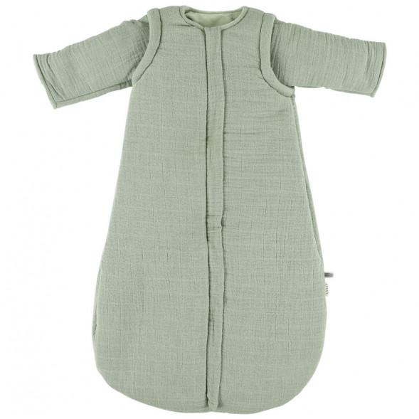 """Turbulette Hiver (6-12 mois) à manches longues en polaire et coton bio """"Bliss Olive"""""""