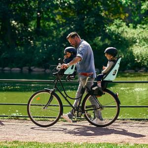 """Siège-vélo enfant arrière sur cadre Yepp Nexxt Maxi """"Chocolate Brown"""" (9-72 mois) Thule"""