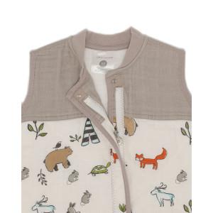 """Turbulette bébé Hiver en mousseline de coton matelassé """"Forest Friends"""" A Little Unicorn"""