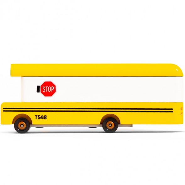 """Voiture en bois """"School Bus"""" (13,5 cm)"""