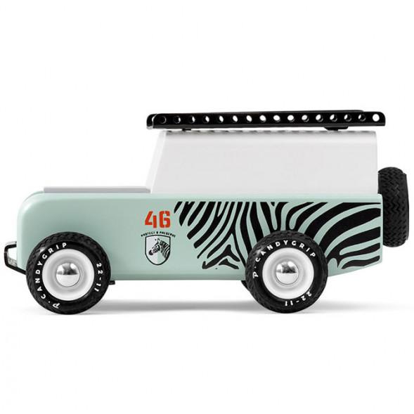 """Voiture en bois """"Drifter Sahara Zebra"""" (16,5 cm)"""