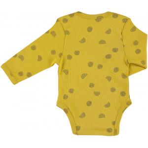 "Body bébé manches longues kimono en coton bio ""Sunny Spots"" Trixie Baby"