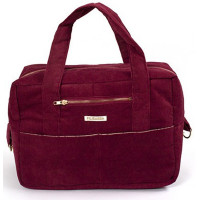 "Sac à langer en velours de coton bio Mommy Bag ""Bordeaux"" Filibabba"
