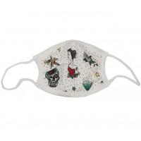 """Masque de protection lavable Enfant en coton biologique """"Tatouage"""" (6-12 ans)"""