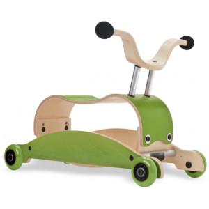Jouet bébé à rouler en bois Mini-Flip 3 en 1 Vert/Vert Wishbone