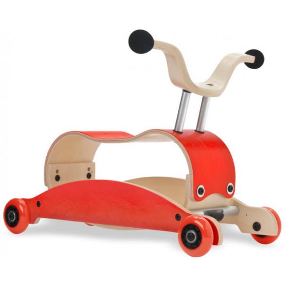 Mini-Flip 3 en 1 en bois Rouge/Rouge