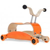 Jouet bébé à rouler en bois Mini-Flip 3 en 1 Orange/Orange Wishbone