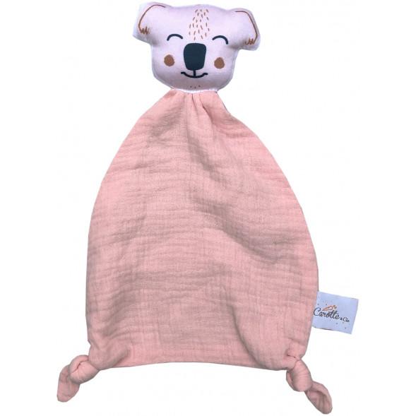 """Doudou Plat en lange de coton bio """"Koala"""""""