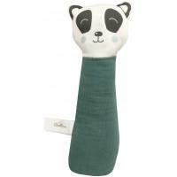 "Hochet bébé gling-gling en coton bio ""Panda"" Carotte & cie"