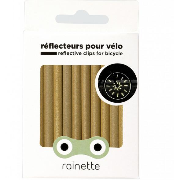 """Réflecteurs pour roues de vélo """"Or"""""""
