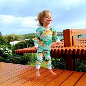 """Pyjama enfant 2 pièces en coton bio """"Surfer"""" Changemacouche"""