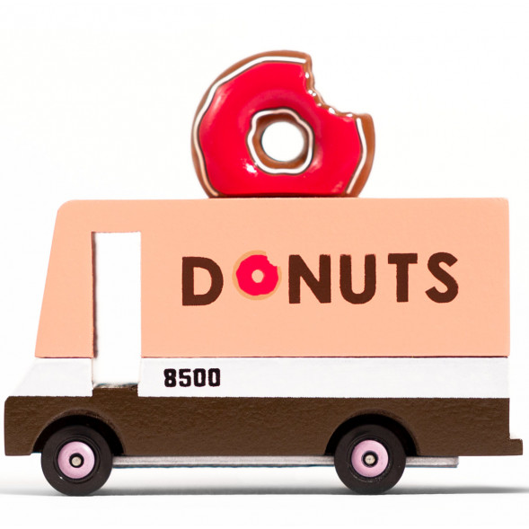 "Voiture en bois ""Van Donuts"" (10 cm)"