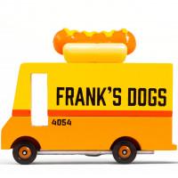 """Voiture en bois vintage """"Hot Dog Van"""" pour enfant Candylab Toys"""