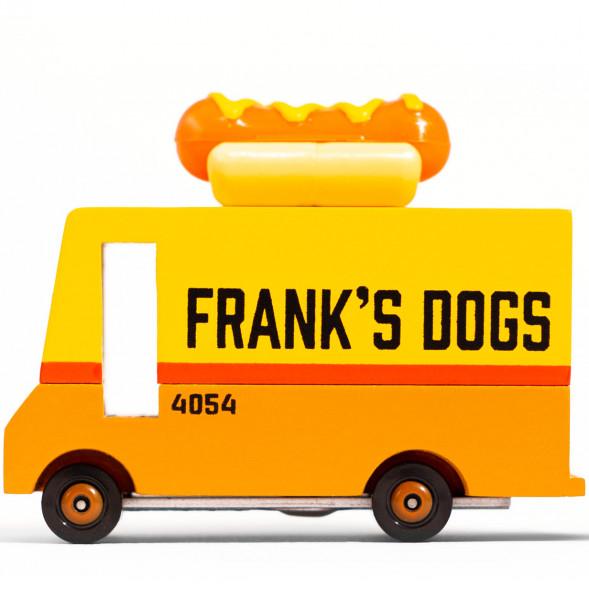 """Voiture en bois """"Van Hot Dog"""" (10 cm)"""
