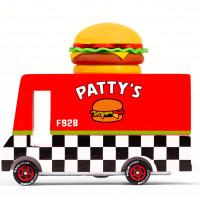 "Voiture en bois vintage ""Hamburger Van"" pour enfant Candylab Toys"