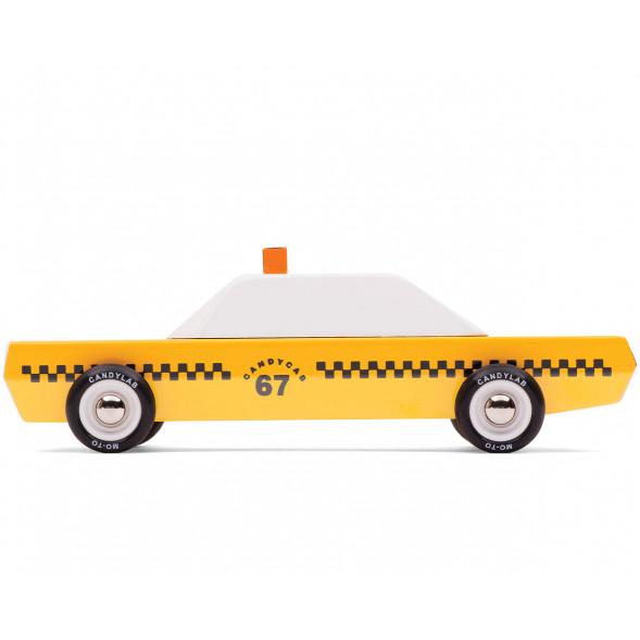 """Voiture en bois """"Taxi"""" (18 cm)"""