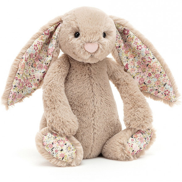 "Peluche Bashful Lapin ""Beige Bea Blossom"" (18 cm)"