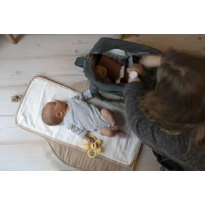 "Sac à langer en velours de coton bio Mommy Bag ""Pine Green"" Filibabba"