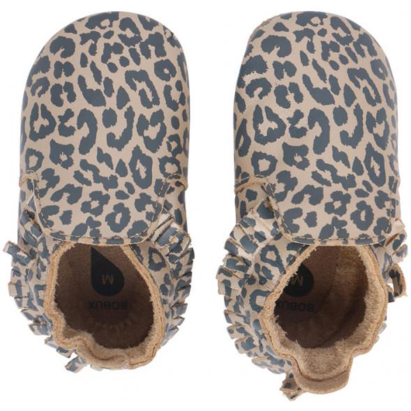 """Chaussons bébé en cuir Soft Sole """"Print Leopard Gold"""""""