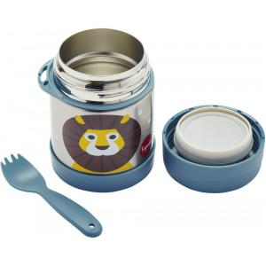 """Boîte repas Thermos enfant en inox et fourchette """"Lion"""" 3 Sprouts"""