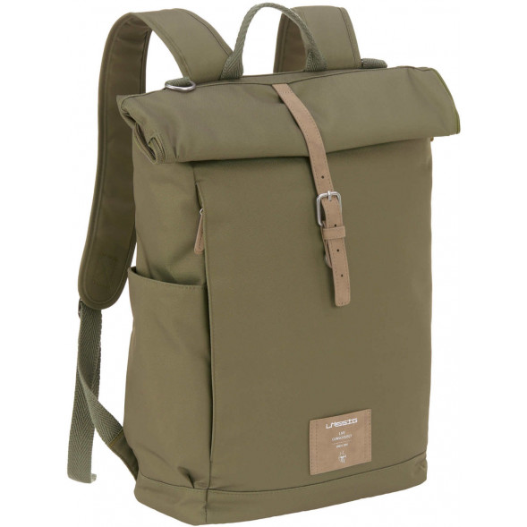 "Sac à langer à dos en PET recyclé Green Label Rolltop ""Olive"""