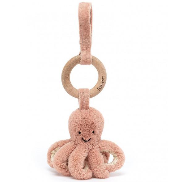 """Jouet d'éveil à suspendre avec anneau en bois """"Odell  Octopus"""""""