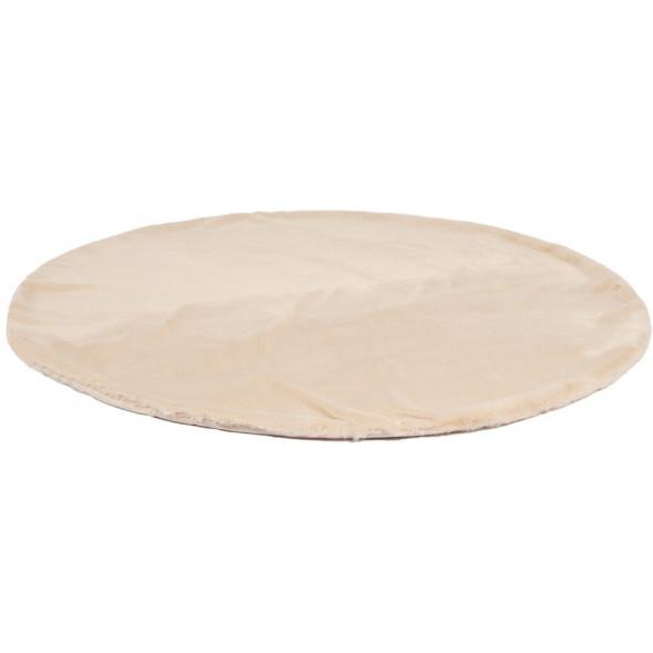 """Tapis rond en peluche """"Vanilla Cream"""" (120 cm)"""