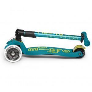 """Trottinette Maxi Micro Pliable avec roues LED (5-12 ans) """"Vert pétrole"""""""