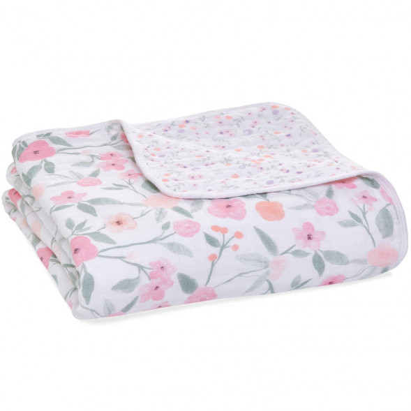 """Couverture de Rêve bébé en mousseline de coton """"Ma Fleur"""" (120 x 120 cm)"""