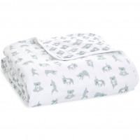 """Couverture de Rêve bébé en mousseline de coton """"Now + Zen"""" (120 x 120 cm)"""