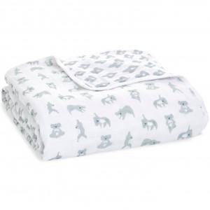 """Couverture de Rêve bébé en mousseline de coton """"Now + Zen (120 x 120 cm) Aden Anais"""