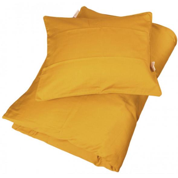 """Housse de couette (100x140 cm) et Taie (40x45 cm) en coton bio """"Golden Mustard"""""""