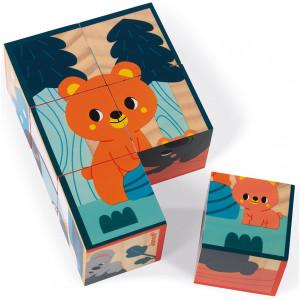 """Cubes en bois """"Animaux"""" (1-3 ans) Janod"""