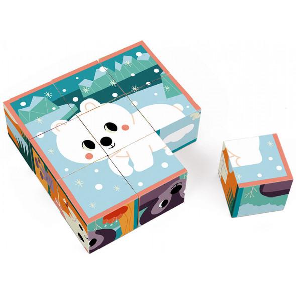"""Cubes en carton """"Animaux"""" (2-4 ans)"""