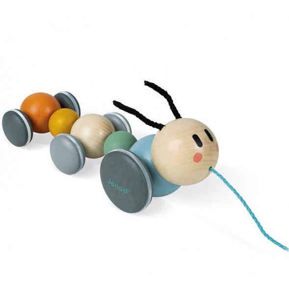 """Jouet en bois à tirer """"Chenille Sweet Cocoon"""" (1-3 ans)"""