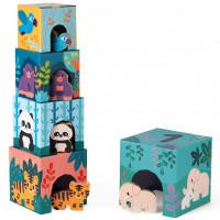 """Cubes à empiler et figurines """"Animaux"""" (1-3 ans)"""